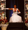 Jaliah Peters.  The 61st Annual Owl Club of Denver Debutante Cotillion at the Denver Marriott City Center near Denver, Colorado, on Saturday, June 2, 2012.<br /> Photo Steve Peterson