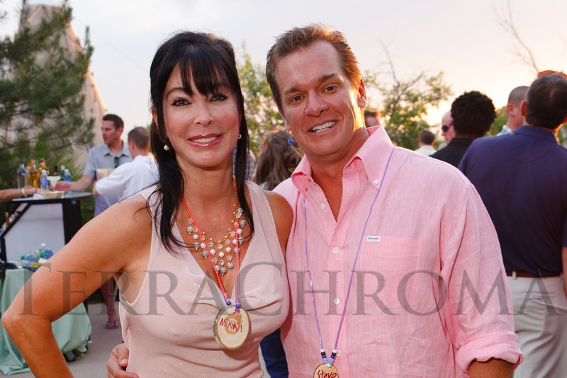 Nikki and Steve Lockton.  Janet's Camp, benefiting the YMCA of Metropolitan Denver, at the home of Steve and Nikki Lockton in Englewood, Colorado, on Saturday, June 23, 2012.<br /> Photo Steve Peterson