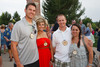 With Firstbank:  Jarrod and Kelly Lassen with Justin and Amy Ensign.  Janet's Camp, benefiting the YMCA of Metropolitan Denver, at the home of Steve and Nikki Lockton in Englewood, Colorado, on Saturday, June 23, 2012.<br /> Photo Steve Peterson