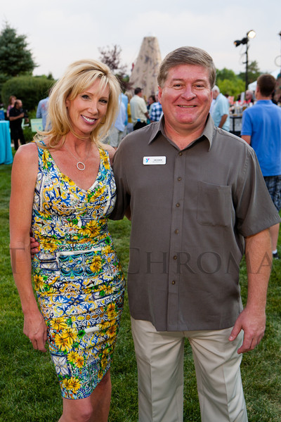 Janet Elway and Jim Hiner.  Janet's Camp, benefiting the YMCA of Metropolitan Denver, at the home of Steve and Nikki Lockton in Englewood, Colorado, on Saturday, June 23, 2012.<br /> Photo Steve Peterson