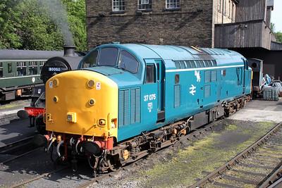 37075 at Haworth Yard on the KWR.