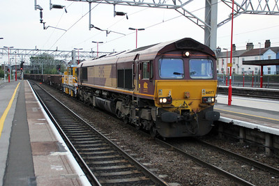 66077 2044/7D51 Crewe-Toton passes Stafford.