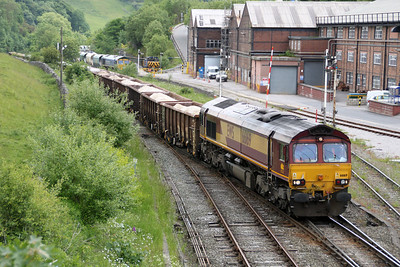 66169 1408/6H52 Dowlow-Ashbury passes Great Rocks Jct.