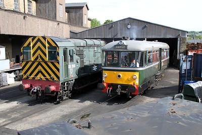 08266 and M79964 at Haworth Yard on the KWR.