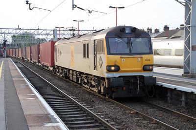 92003 1957/4o85 Trafford Park-Dollands Moor passes Stafford.