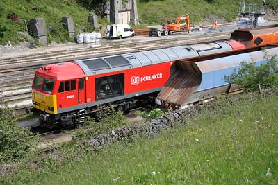 60059 on Peak Forest sidings.