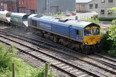 66623 1458/6E04 Tunstead-West Burton departs Tunstead passing Great Rocks Jct.