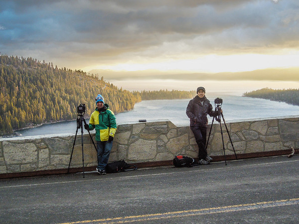 Us at Emerald Bay for morning sunrise shoot
