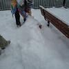 Snowball fight! Burying Jaime
