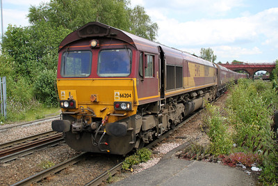 66204 1354/4z14 Drax-Milford Sidings passes Knottingley 19/06/12