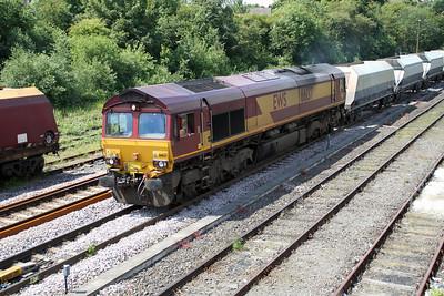 66137 1215/4z67 Redcar-Dowlow passes Knottingley 19/06/12