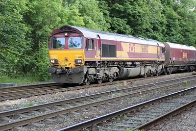 66162 1931/4A30 Drax-Milford Jct passes Hillam Gates crossing 19/06/12