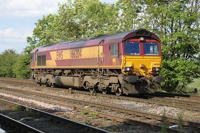 66204 1723 L/E Knottingley TMD-Milford Jct passes Hillam Gates crossing 19/06/12
