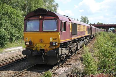 66187 1223/4D17 Eggborough-Immingham passes Knottingley 19/06/12
