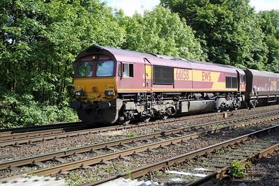 66158 1645/4D65 Drax-Immingham passes Hillam Gates crossing 19/06/12