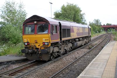 66204 1431/0z16 Milford-KnottingleyTMD passes Knottingley 19/06/12