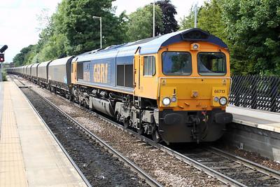 66713 1440/6H96 Tyne Dock-Drax passes Knottingley 19/06/12
