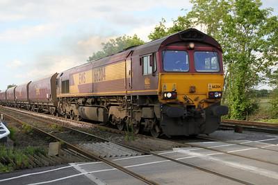 66204 1825/4s79 Milford Jct-Hunterston passes Hillam Gates crossing 19/06/12