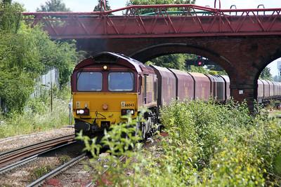 66043 1200/4s74 Drax-Leith Docks passes Knottingley 19/06/12