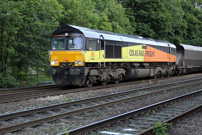 66849 2016/4e43 Ratcliffe-Walsingham passes Hillam Gates crossing 19/06/12