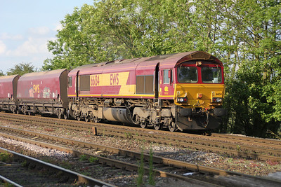 66134 1835 on an UID working to Drax passes Hillam Gates crossing 19/06/12