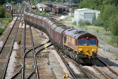 66044 1623/6v66 Redcar-Margam approaches Monk Fryston from Milford Jct 19/06/12