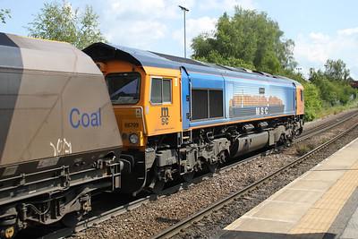 66709 1146/4H93 Tyne Dock-Drax passes Knottingley 19/06/12