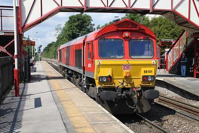 66101 1128 Light Engine west passes Knottingley 19/06/12