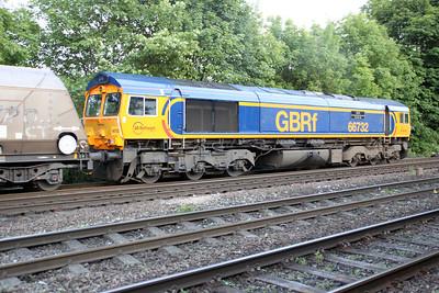 66732 1954/6c51 Immingham-Eggborough passes Hillam Gates crossing 19/06/12