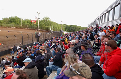 The crowd at LaSalle Speedway