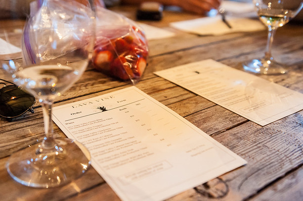 Wine, Strawberries, sunshine, and lots of things you could buy. This was our tasting menu (sort of)