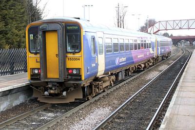 153360/304 Arrives at Knottingley
