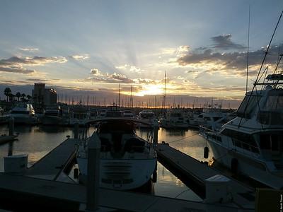 Sunset in San Diego.