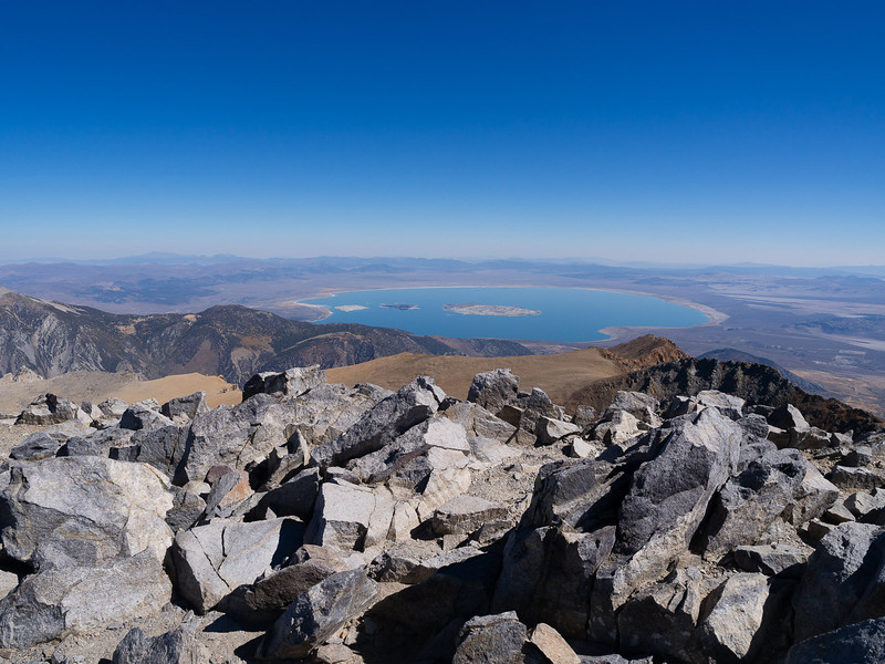 Mono Lake and eastward