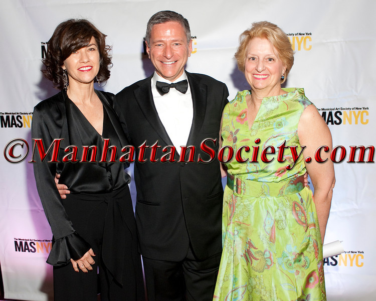 """Artist <a href=""""http://celinemcdonald.com/"""" target=""""_blank"""">Celine McDonald</a>,  Vin Cipolla (President, Municipal Art Society), Genie Birch (Chair, Municipal Art Society) attend  Municipal Art Society of New York's """"2012 Jacqueline Kennedy Onassis Medal"""" Award Gala, honoring Joan Ganz Cooney and Pete Peterson on Thursday, April 19, 2012 in New York City at The New York Public Library, Stephen A. Schwarzman Building, Fifth Avenue at 42nd Street (Photos by Christopher London ©2012 ManhattanSociety.com)"""