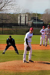 Pitcher, No. 30, Beau Hilton and 2nd baseman, No. 6, Ryan Hodge