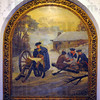 Tribune-Star/Jim Avelis<br /> Forging ahead: Murals of scenes from history adorn interior walls of the Edgar County courthouse in Paris. This one of George Washington at Valley Forge is one.