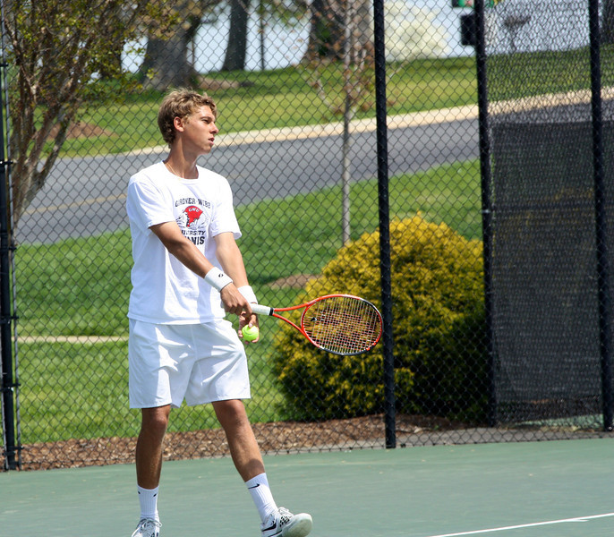Adam Knutsson-Sundblad during Sunday's Tennis match against SC State