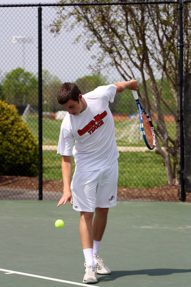 Stephen Martin during Sunday's Tennis match against SC State