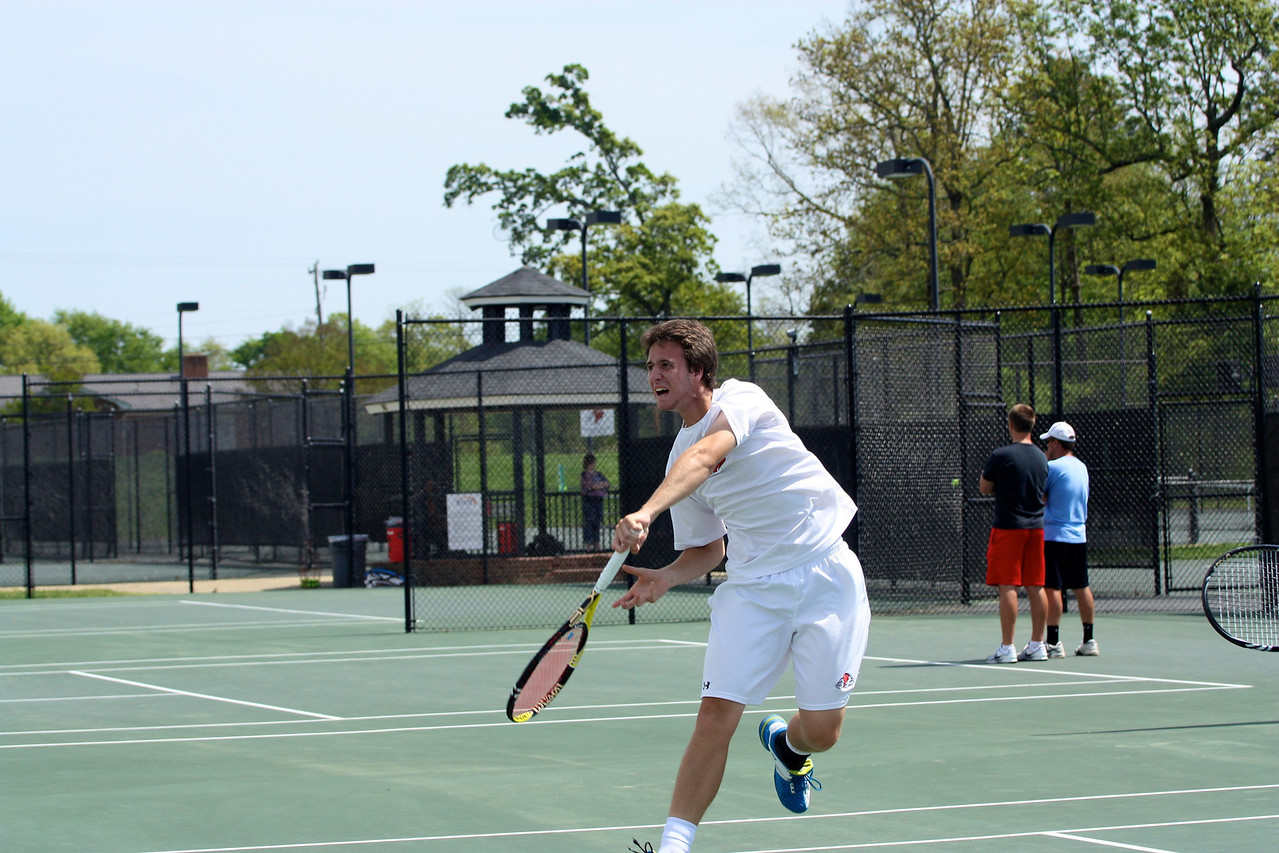 Ernest Alberch during Sunday's Tennis match against SC State