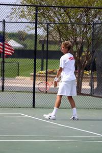Adam Knutsson-Sundblad during Sunday's Tennis match against SC State