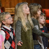 Children: Several children sing during services at the Memorial United Methodist Church Sunday morning.