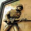 Marines: Detail photo of Marine wall-hanging.
