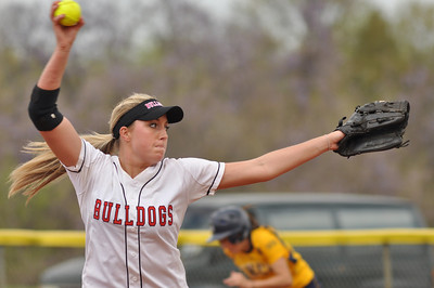 Cindy Boomhower pitches vs UNC Greensboro on March 22, 2012.