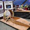 Project: Members of the Terre Haute South Hovercraft Project man their booth at the annual Home Show at Hulman Center Friday.
