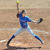 Rock and fire: Indiana State's #11, Ashli Scott throws a pitch to the plate during game action against Drake Sunday afternoon at Price Field.