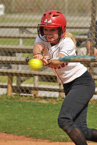 Jordyn Arrowood bats vs UNC Greensboro on March 22, 2012.