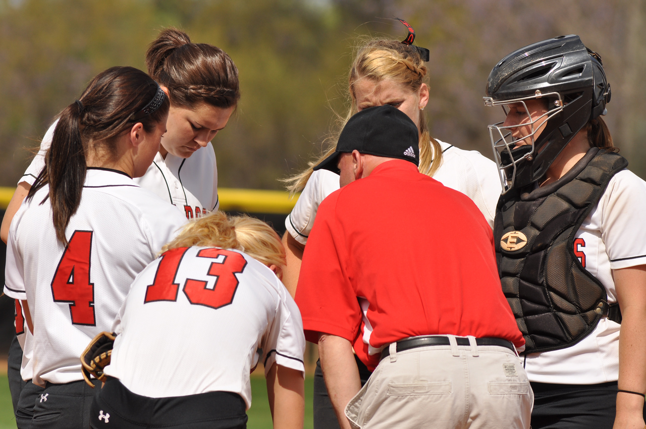GWU softball vs UNC Greensboro on March 22, 2012.