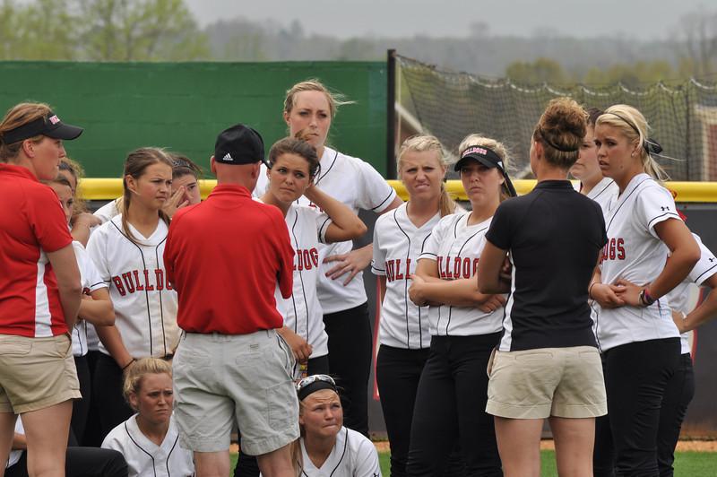 GWU softball vs UNC Greensboro on March 22, 2012.
