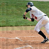 Beauty: Rose-Hulman's #19, Parker Fulkerson lays down a bunt during early action against Concordia Saturday afternoon.